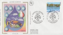 Enveloppe  FDC  1er  Jour  ITALIE   Accord   RAMOGE   1996 - Emissions Communes