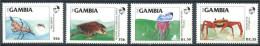 175 GAMBIE 1984 - Yvert 528/31 - Tortue Crabe Meduse - Neuf ** (MNH) Sans Charniere - Gambie (1965-...)