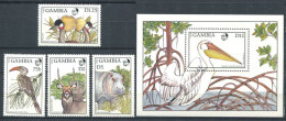 175 GAMBIE 1988 - Yvert 698/701 BF 45 - Oiseau - Neuf ** (MNH) Sans Charniere - Gambie (1965-...)