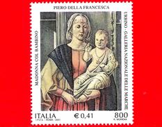 """Nuovo - MNH - ITALIA - 2001 - 800 L. - 0,41 € • Dipinto """"Madonna Col Bambino"""" Di Piero Della Francesca - Urbino - 6. 1946-.. Republic"""