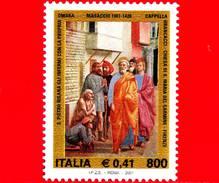 """Nuovo - MNH - ITALIA - 2001 - Tommaso Di Ser Giovanni Di Mone Cassai, Detto """"il Masaccio"""" - 800 L. - 0,41 € • Affresco - 6. 1946-.. Republic"""