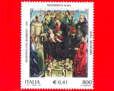 """Nuovo - MNH - ITALIA - 2001 - 500º Anniversario Del Dipinto """"Madonna Col Bambino"""" Di Macrino D´Alba - 800 L. - 0,41 € - 6. 1946-.. Republic"""