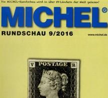 MICHEL Briefmarken Rundschau 9/2016 Neu 6€ New Stamps Of The World Catalogue/ Magacine Of Germany ISBN 978-3-95402-600-5 - Telefonkarten