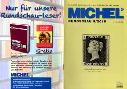 MICHEL Briefmarken Rundschau 9/2016 Neu 6€ New Stamps Of The World Catalogue/magacine Of Germany ISBN 978-3-95402-600-5 - Pin's