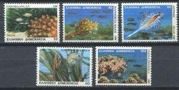 175 GRECE 1988 - Yvert 1660/64 - Faune Marine Poisson Corail - Neuf ** (MNH) Sans Charniere - Ungebraucht