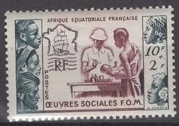 Afrique Equatoriale Française 1950. N°227 *, MH.  Oeuvres Sociales F.O.M. Cote Y&T 7,50 € - A.E.F. (1936-1958)