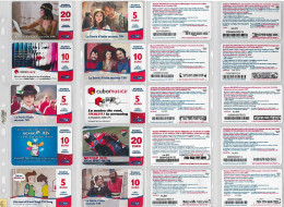 LOTTO 10 RICARICHE USATE TIM ULTIME EMISSIONI (6RL - [2] Sim Cards, Prepaid & Refills