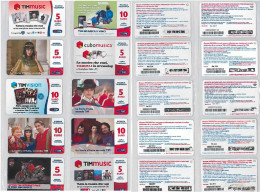 LOTTO 10 RICARICHE USATE TIM ULTIME EMISSIONI (8RL - [2] Sim Cards, Prepaid & Refills