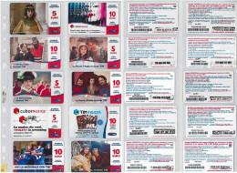 LOTTO 10 RICARICHE USATE TIM ULTIME EMISSIONI (10RL - [2] Sim Cards, Prepaid & Refills