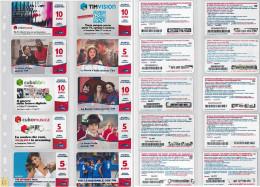 LOTTO 10 RICARICHE USATE TIM ULTIME EMISSIONI (12RL - [2] Sim Cards, Prepaid & Refills