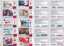LOTTO 10 RICARICHE USATE TIM ULTIME EMISSIONI (16RL - [2] Sim Cards, Prepaid & Refills