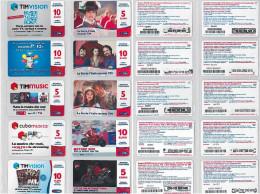 LOTTO 10 RICARICHE USATE TIM ULTIME EMISSIONI (23RL - [2] Sim Cards, Prepaid & Refills