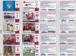 LOTTO 10 RICARICHE USATE TIM ULTIME EMISSIONI (24RL - [2] Sim Cards, Prepaid & Refills