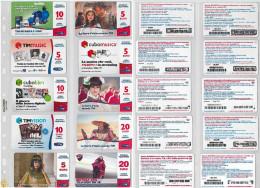 LOTTO 10 RICARICHE USATE TIM ULTIME EMISSIONI (25RL - [2] Sim Cards, Prepaid & Refills