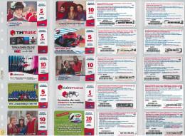 LOTTO 10 RICARICHE USATE TIM ULTIME EMISSIONI (27RL - [2] Sim Cards, Prepaid & Refills
