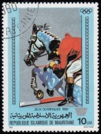 MAURITANIA - Scott #446 Moscow '80 Winter Olympic Games, Show Jumping / Used Stamp - Summer 1980: Moscow