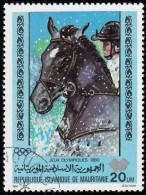 MAURITANIA - Scott #447 Moscow '80 Winter Olympic Games, Show Jumping / Used Stamp - Summer 1980: Moscow