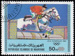 MAURITANIA - Scott #448 Moscow '80 Winter Olympic Games, Show Jumping / Used Stamp - Summer 1980: Moscow
