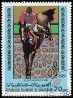 MAURITANIA - Scott #449 Moscow '80 Winter Olympic Games, Show Jumping / Used Stamp - Summer 1980: Moscow