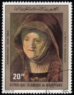 MAURITANIA - Scott #457 His Mother By Rembrandt (*) / Used Stamp