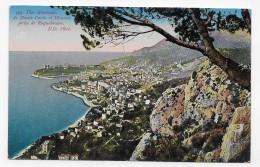 MONTE CARLO ET MONACO - N° 123 - VUE GENERALE PRISE DE ROQUEBRUNE - Ed. A. SAUVAIGO A NICE - CPA NON VOYAGEE - Monte-Carlo