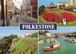 Postcard - Folkestone (Beach/Bandstand/Harbour), Kent. 2-65-03-18 - Folkestone