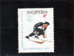 1968 Albania - Olimpiadi Invernali - Invierno 1968: Grenoble