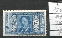 1932 DANTE ALIGHIERI Lire 1.25 Nuovo ** MNH - Nuovi