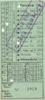 BIGLIETTO BUS USATO AUTOLINNE FERRARA MIRANDOLA 1954 - Bus