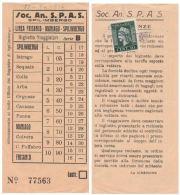 BIGLIETTO BUS USATO ANSPAS SPILIMBERGO CON MARCA DA BOLLO CENT.10 ANNI 30 1946 (102) - Bus