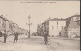 CPA:Romans:Cours Bonnevaux:Facteur Premier Plan - Romans Sur Isere
