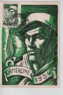 Algérie CP Maximum Camerone 1954 C. Camerone 30/4/1954 Sidi Bel Abbes V.Belgique PR3501 - Algeria (1924-1962)