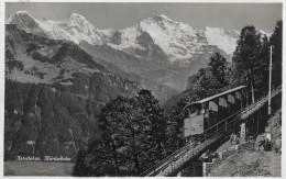 HARDERBAHN → Bahn Unterwegs Auf Dem Viadukt Mit Touristen Anno 1931 - BE Bern