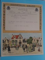 TELEGRAM Voor John Pauwels De Wachter Antwerpen Berchem V/D John Café Der ARTS Verzonden 19?? !! - Unclassified