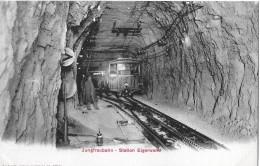 JUNGFRAUBAHN → Station Eigerwand Wartender Zug Mit Gästen, Ca.1910 - BE Berne