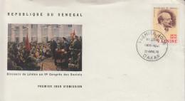 Enveloppe  FDC  1er  Jour   SENEGAL    LENINE   1970
