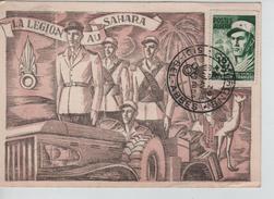 Algérie CP Maximum La Légion Au Sahara C.Camerone 30/4/1954 Sidi Bel-Abbes V.Belgique  PR3502 - Algeria (1924-1962)