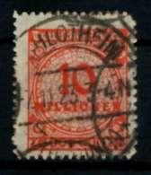 D-REICH INFLA Nr 318BP Gestempelt Gepr. X7247B6 - Deutschland