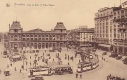 BRUXELLES: Gare Du Nord Et Place Rogler  (Tranway ) - Spoorwegen, Stations