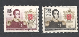 PERU    -   1958 Airmail - The 100th Anniversary Of The Death Of General Alvarez Thomas, 1787-1857 566/7  USED - Peru