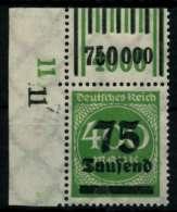 D-REICH INFLA Nr 287aW OR 2-9-2 1-5-1 Postfrisch ECKE-O X72B91E - Germany