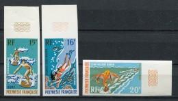 Polinesia Francesa 1971. Yvert A 48-50 Imperforated ** MNH. - Non Dentelés, épreuves & Variétés