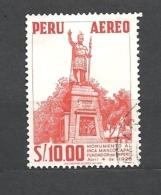 PERU    -   1959 Airmail - Personalities, Nature And Culture Of Peru Inca Manco Capac Monument-  USED - Peru