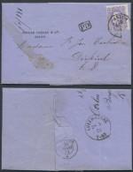 AG027 Lettre De Arlon à Diekirsch Luxembourg 1873 - Belgique