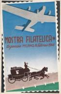 MOSTRA FILATELICA - CARTOLINA ORIGINALE 1946 - Francobolli (rappresentazioni)