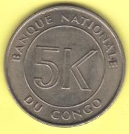 CONGO REP 5 Makuta 1967  2 Scannes - Congo (Rép. Démocratique, 1964-70)