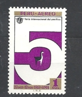 PERU    -  1967 The 5th International Pacific Fair, Lima 675 Hinged Airmail - Lama Glama - Peru