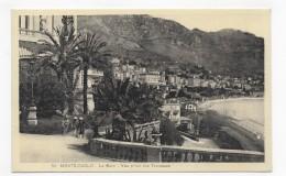 MONTE CARLO - N° 98 - LA GARE - VUE PRISE DES TERRASSES - CPA NON VOYAGEE - Monte-Carlo