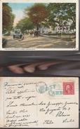7427) USA CANTON OHIO VIEW ON NORTH MARKET STREET VIAGGIATA 1921 - United States