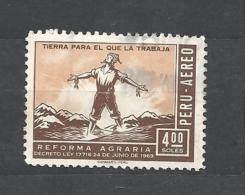 PERU    -  1969 Agrarian Reform Decree Airmail  Used - Peru